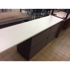 """18 1/2x84x30"""" 4 drawer Lat. file with extended counter (11/19/18)"""
