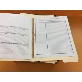 Ltr.sz. End tab folders containing medical data sheets (11/26/18)