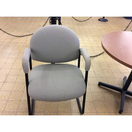 Beige padded side Chair with metal legs (11/27/18)