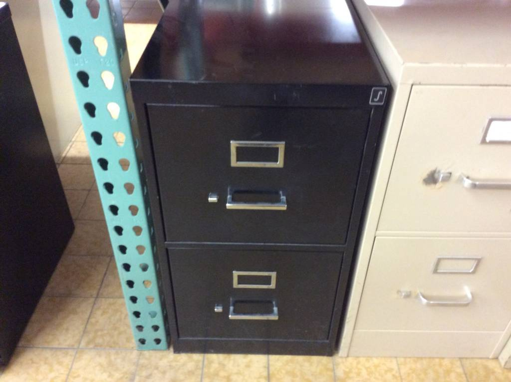 15x28 1 2x28 Black 2 Drawer File Cabinet 11 28 18