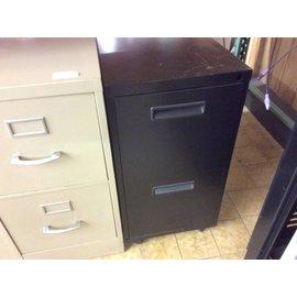 """15x23x28"""" Black 2 drawer file cabinet on castors (11/28/18)"""