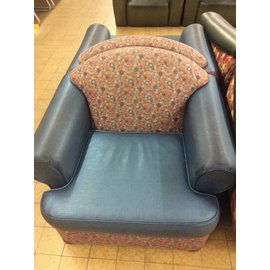 blue patterned lounge chair 12/10/18
