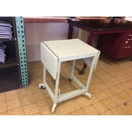 "15x21x26 1/2"" metal typing table on castors (12/10/18)"