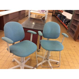 Green Padded counter height Chair on castors (1/9/19)