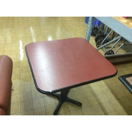 30x30x29 med dinning table red top 12/12/18