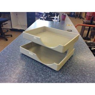 2 tier beige plastic heavy duty paper tray (12/17/18)
