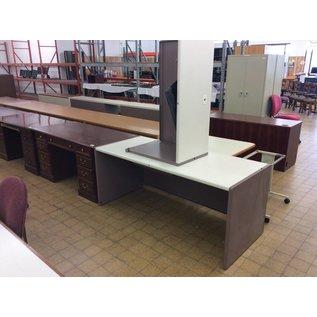 30x70x30 Mauve Table w/right return (12/19/18)