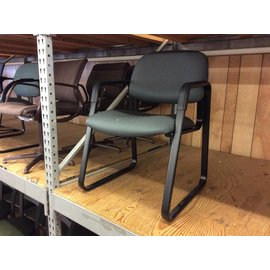 Green padded sled base side chair (12/18/19)