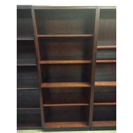 29 1/2x16x72 5 Cherry 5 shelf bookcase/narrow 12/20/18
