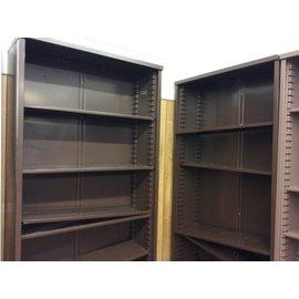 "12x36x84"" Brown metal Bookcase (1/9/19)"