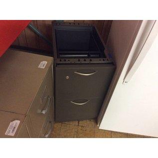 """23 1/2x15x27"""" file cab. Grey metal 2 drawer no top (1/2/19)"""