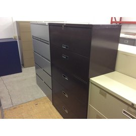 18x42x64 Brown 5 drawer lateral file cabinet (1/9/19)
