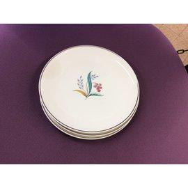 "6 1/2"" plates set of 3 + 2 saucers (1/14/19)"