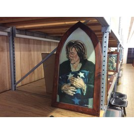 "22 1/2x40"" Wood frame religious artwork (1/22/19)"