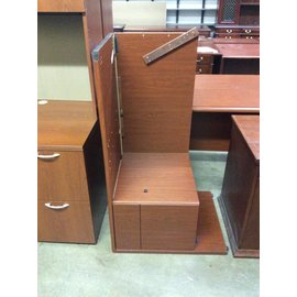 30x72x86 Cherry Wood dbl Pedestal L shape desk 12/20/18