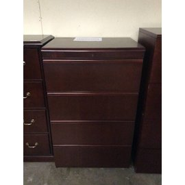 24x32x52 Cherry 4 drawer lateral file 12/20/18
