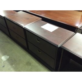 "19x34x30"" Cherry 2 drawer lateral file 12/20/18"