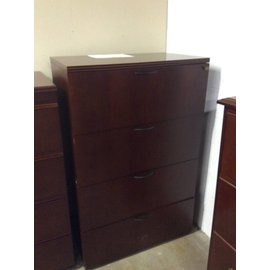 22x36x56 Cherry 4 drawer lateral file 12/20/18