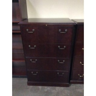 24x36x54 Cherry 4 drawer lateral file 12/20/18