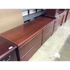 24x72x30 Cherry 4 drawer lateral credenza 12/20/18