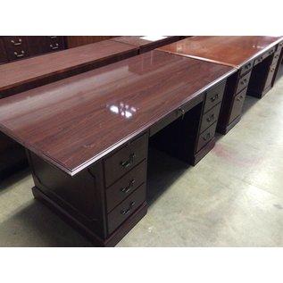 36x72x30 Cherry dbl ped desk 12/20/18