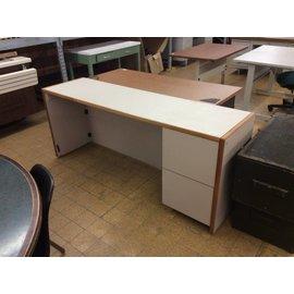 72x20x30 Beige wood R/pedestal credenza 2/19/19