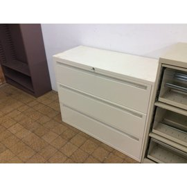 18x42x34 Off White 3 Drawer Lateral File 2/26/19