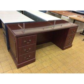 "24x72x30"" cherry wood Desk dbl ped. (4/8/10)"