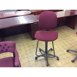 Maroon counter height desk chair (4/11/19)