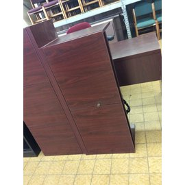 "14 1/2x42x18 1/2"" Cherry color wood wall mount Cabinet w/light (4/15/19)"
