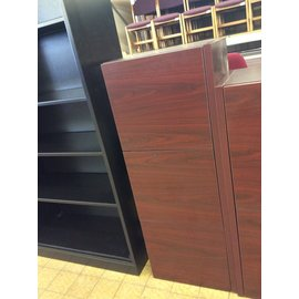 "14 1/2x48x18 1/2"" Cherry color wood wall cabinet w/3 doors & light (4/15/19)"