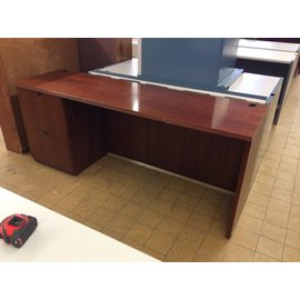 """21x72x29 1/2"""" Cherry color wood Credenza left ped (4/15/19)"""