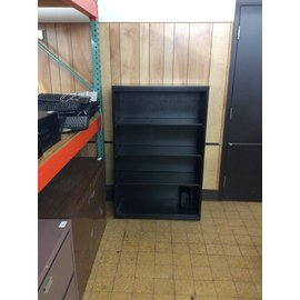 15x36x55 Black metal 4 shelf bookcase 4/16/19
