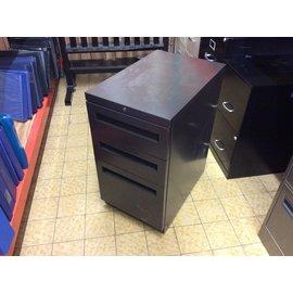 """15x23x28 1/2"""" DK Brown 3dr storage/file cabinet on castors (4/16/19)"""