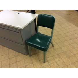 Green padded steelcase side chair (4/18/19)