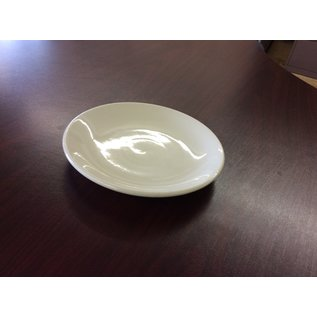 "7"" White plate Homer Laughlin China (5/6/19)"