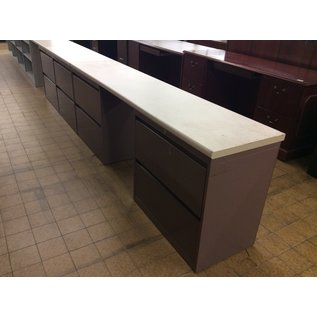 "18 1/2x84x30"" mauve 4 Drawer Lateral File w/ctr space (4/29/19)"