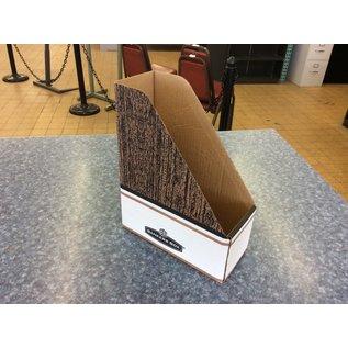 Cardboard Bankers Box desktop  magazine holder (5/6/19)