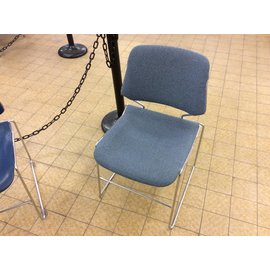 Blue padded seat stacking chair (5/9/19)