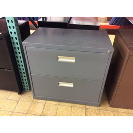 "18x30x28"" Dk gray 2 drawer lateral file cabinet (5/9/19)"