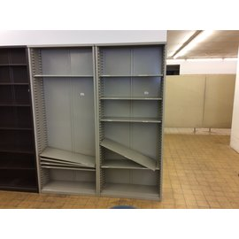 "12x36x84 1/4"" Lt. Gray metal bookcase 4/16/19"