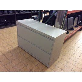 "18x42x28 1/4"" grey metal 2 drawer Lat. File (5/23/19)"
