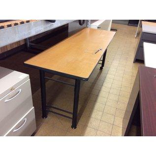 "24x72x29"" Table metal legs 2 castors (10/13/20)"