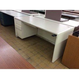 """29 3/4x70x30"""" off white left ped. Desk (5/20/19)"""