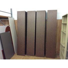 "18x96"" Brown wood top folding seminar table/damaged (6/6/19)"