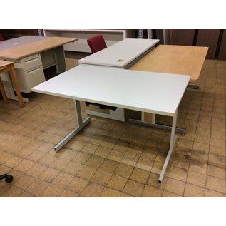 "29 1/2x48x28 3/4"" Gray computer table w/keyboard tray (5/23/19)"