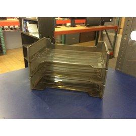 3 tier Black plastic paper tray (6/4/19)