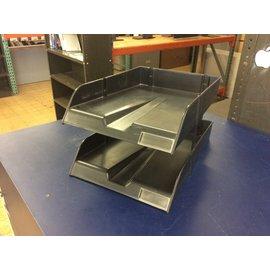 2 Tier Black plastic legal size paper tray (6/4/19)