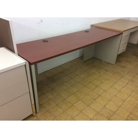 """23 1/2x78x28 1/4""""  Cherry color top computer table (6/6/19)"""