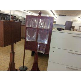 "24x66"" wood brochure/literature rack (6/10/19)"